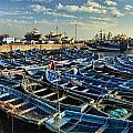 Boats In Essaouira Morocco Harbor by David Smith