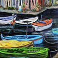 Boats In Front Of The Buildings II by Xueling Zou