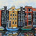 Boats In Front Of The Buildings Vi by Xueling Zou