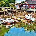 Boats In Halls Harbour-nova Scotia  by Ruth Hager
