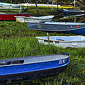 Boats In Marsh - Cape Neddick - Maine by Steven Ralser