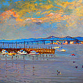 Boats In Piermont Harbor Ny by Ylli Haruni