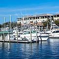 Boats In Port 5 by Mechala Matthews