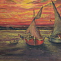 Boats In The Sea by Yatendra Amar
