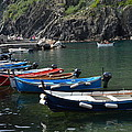Boats In Vernazza by Dany Lison