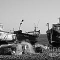 Boats On Beer Beach by Hugh Reynolds
