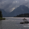 Boats On Jackson Lake - Grand Tetons by Belinda Greb