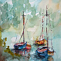 Boats On Lake  by Faruk Koksal