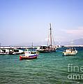 Boats On The Aegean Sea 1 - Mykonos - Greece by Madeline Ellis
