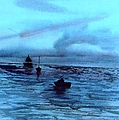 Boats On The Chesapeake Bay by Kendall Kessler