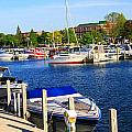 Boats On The Dock Traverse City by Dan Sproul