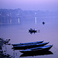 Boats On The Ganges River by Scott Warren
