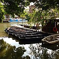 Boats On The Thames River Oxford England by Lois Ivancin Tavaf