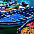 Boats Snuggling - Sicily by Jon Berghoff
