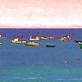 Boats Waiting Off The Guernsey Shore by Bellesouth Studio