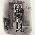 Bob Cratchit And Tiny Tim by Frederick Barnard