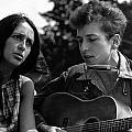 Bob Dylan And Joan Baez by Georgia Fowler