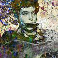 Bob Dylan Original Painting Print by Ryan Rock Artist