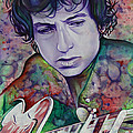 Bob Dylan-pink And Green by Joshua Morton