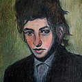 Bob Dylan Portrait In Colored Pencil  by Neal Eslinger