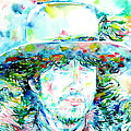 Bob Dylan - Watercolor Portrait.2 by Fabrizio Cassetta