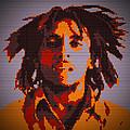 Bob Marley Lego Pop Art Digital Painting by Georgeta Blanaru