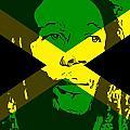 Bob Marley On Jamaican Flag by Dan Sproul