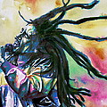 Bob Marley Singing Portrait.1 by Fabrizio Cassetta