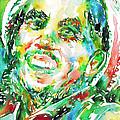 Bob Marley Watercolor Portrait.2 by Fabrizio Cassetta