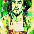 Bob Marley Watercolor Portrait.9 by Fabrizio Cassetta