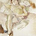Bobette Lying Down Bobette Allongee by Jules Pascin
