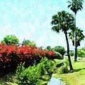 Boca Grande Floral by Florene Welebny
