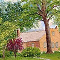 Bockrath-weise House Impressionistic Oil Painting by Daniel Fishback