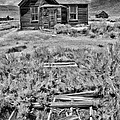 Bodie Cabin Black And White by Blake Richards