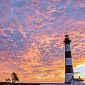 Bodie Island Lighthouse At Sunrise Vetical by Photographic Arts And Design Studio