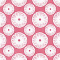 Boho Floral Pattern in Pink and White by Linda Woods
