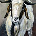 Bohr Goat With Blue Eyes by Dottie Dracos