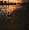 Boise River Dramatic Sunset by Vishwanath Bhat