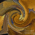Bold Golden Abstract by Deborah Benoit