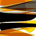 Bold- Yellow Orange Black And Gray Art by Lourry Legarde
