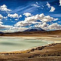 Bolivia Lagoon Clouds Framed by For Ninety One Days