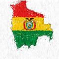 Bolivia Painted Flag Map by Antony McAulay