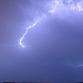 Bolts Of Lightning Arcing Through The Night Sky by James BO Insogna