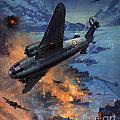 Bombing Scene Artist C E Turner  by Paul Fearn