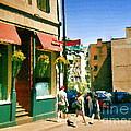Bonaparte 4 Star Classic French Resto Vieux Montreal Paris Style Bistro Paintings Carole Spandau Art by Carole Spandau