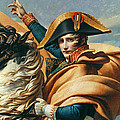 Bonaparte Crossing The Alps Oil On Canvas Detail Of 18491 by Jacques Louis David