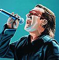 Bono Of U2 Painting by Paul Meijering