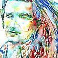 Bono Watercolor Portrait.2 by Fabrizio Cassetta