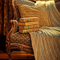 Books On Victorian Sofa by Jill Battaglia