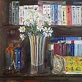 Bookworm Bookshelf Still Life by Anna Ruzsan